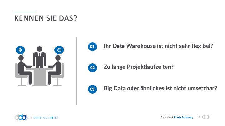 Data Vault Schulung - Probleme